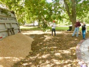 Stone was delivered on a beautiful fall day October 12th with Mark Snyder, Lois and David Case enjoying the moment.